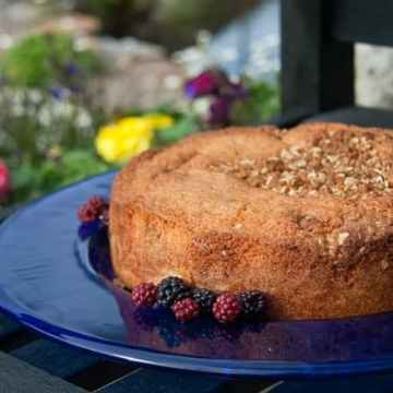 Crumbs and Corkscrews - Apple and Blackberry Crumble Cake