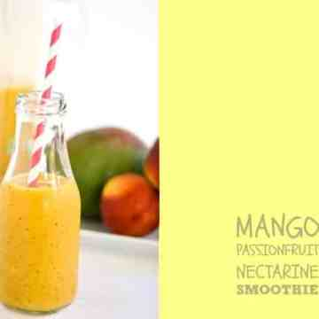 Crumbs and Corkscrews - Mango, Passionfruit and Nectarine Smoothie