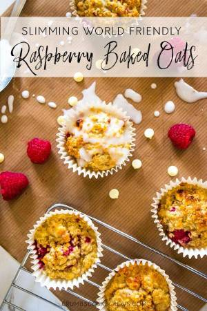 Easy Raspberry Baked Oats Muffins Crumbs Corkscrews