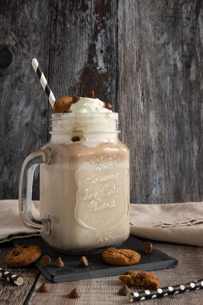 Power through the day with this naughty but nice Cookie Dough Protein Shake made with Arla Organic milk