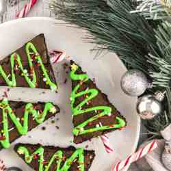 Christmas Tree Brownies - Featured