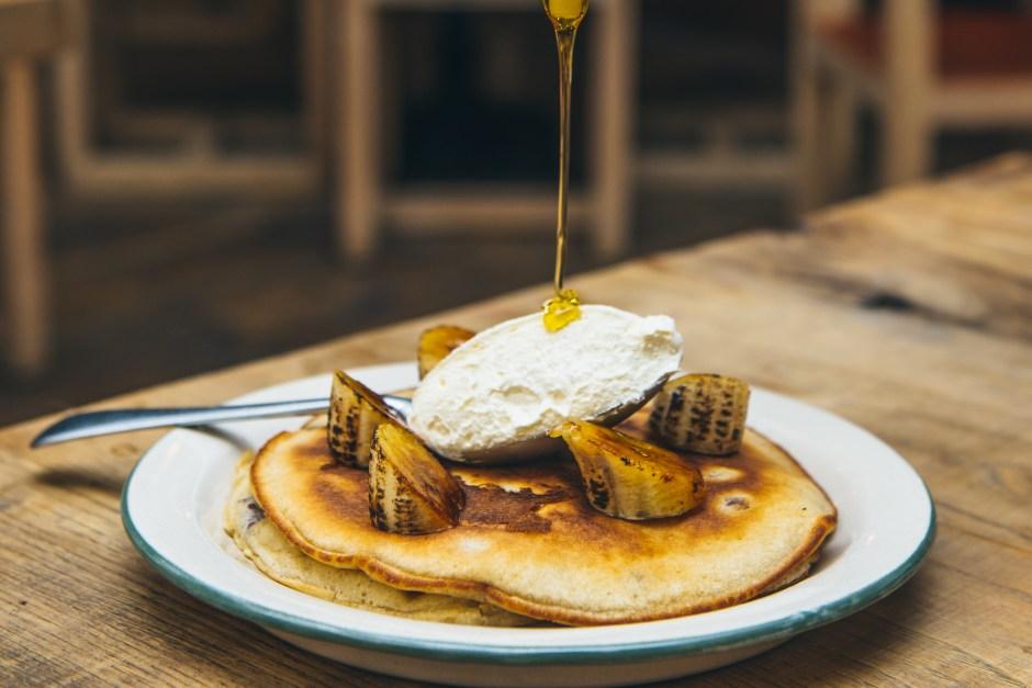 Banana and pecan pancakes, Mac _ Wild Brunch