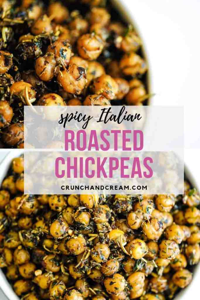 These crispy roasted chickpeas are a perfect snack for 2. Seasoned with a generous amount of Italian herbs and chilli flakes, they're flavourful and lightly spicy. Plus, they require minimal oil or hands-on time - super easy!