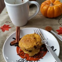 Chocolate Chip Pumpkin Mug Bread {Paleo}