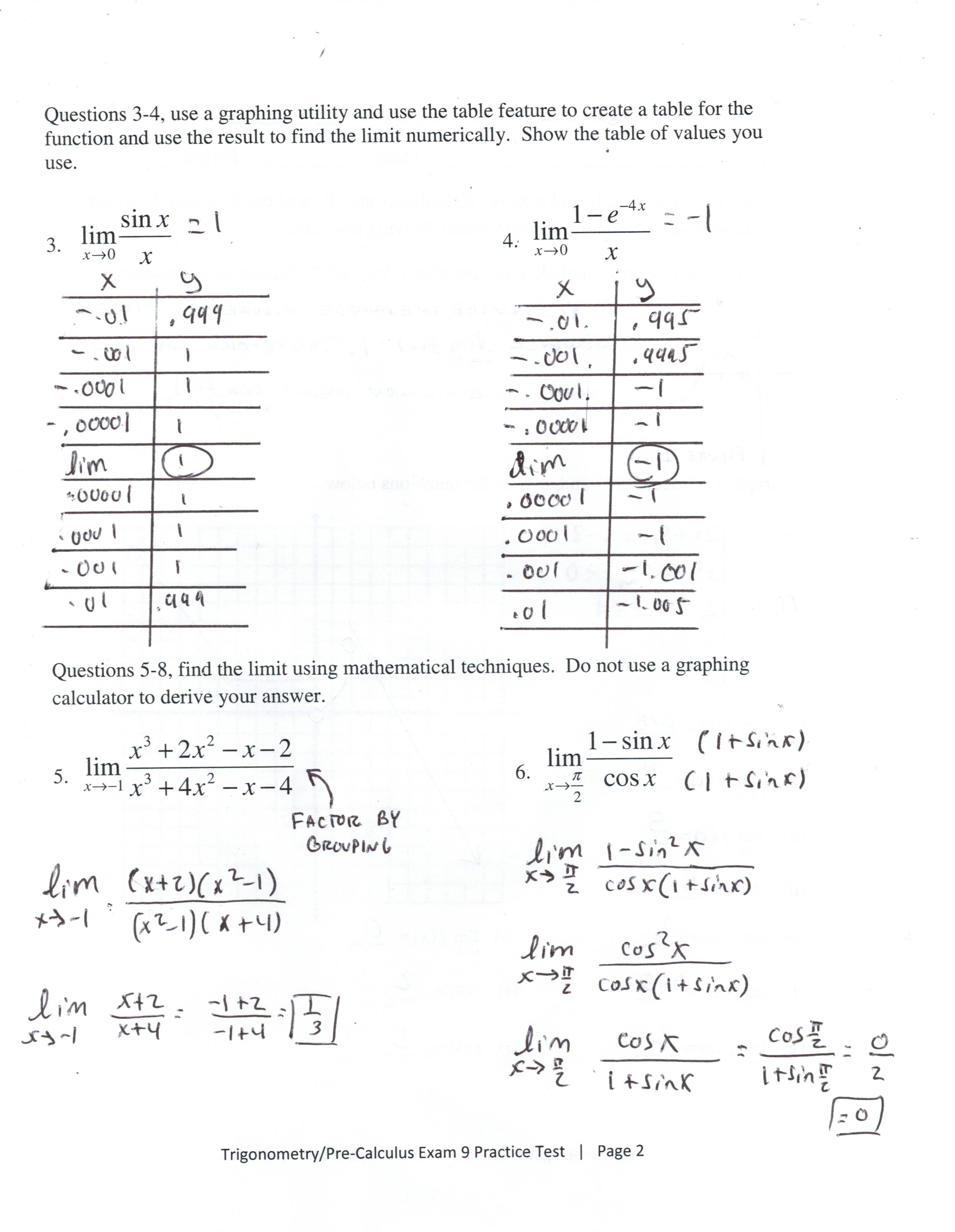 28 Introduction To Limits Worksheet Answers
