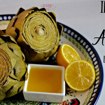 Instant Pot Steamed Artichokes with Lemon Essential Oil Butter