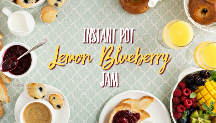 Instant Pot Lemon Blueberry Jam-- A quick, healthy blueberry jam with some brightness from lemon. Bring some sunshine to your breakfast!