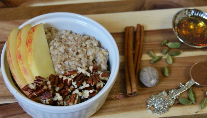 Instant Pot Steel Cut Oats are the PERFECT fall breakfast-- Apple Pie, Pumpkin Pie, Pecan Pie, and Chai Tea Steel Cut Oats all make for yummy combinations of flavors to keep your Instant Pot Steel Cut Oatmeal interesting!