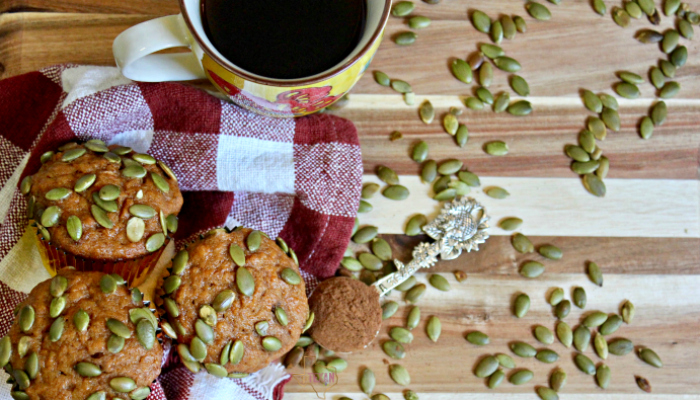 This sweet potato muffins recipe is a perfect fall breakfast, especially the morning after Thanksgiving-- sweet, fluffy, and simply delicious!