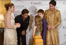Shahrukh Khan with Canadian Prime Minister Justin Trudeau