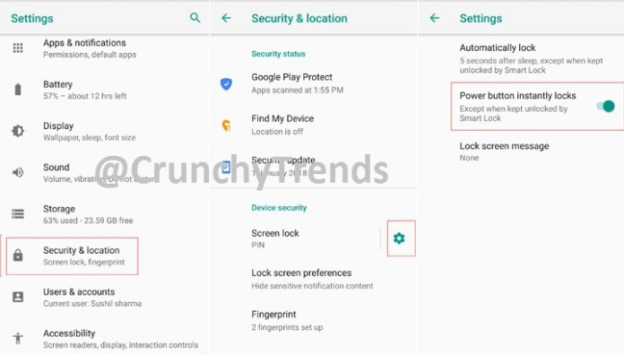 Instant Lock on Android Phone