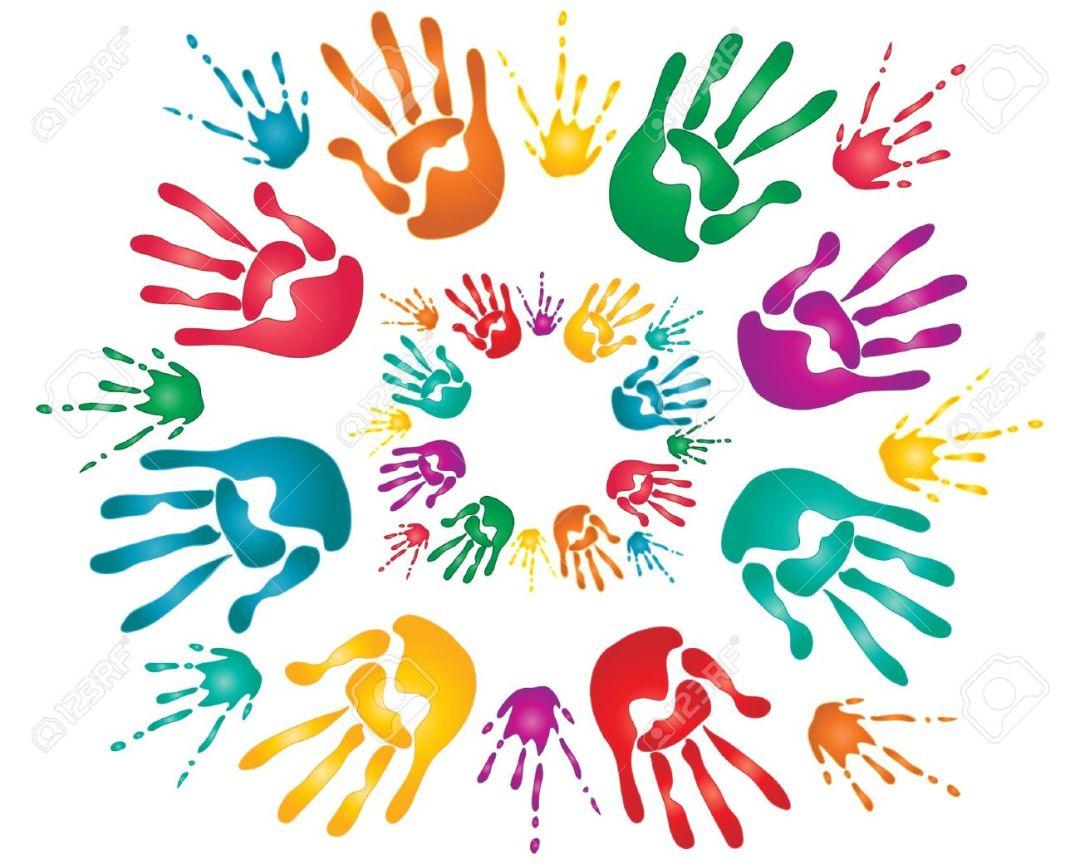 main enfant peinture