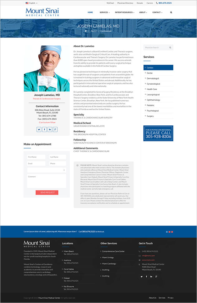 MSMC - Doctor Profile