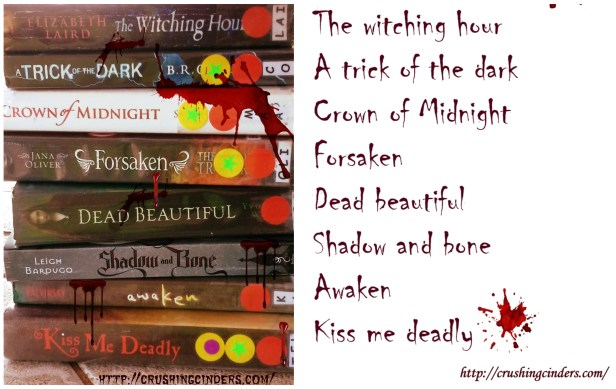 Halloween Inspired Book Spine Poetry