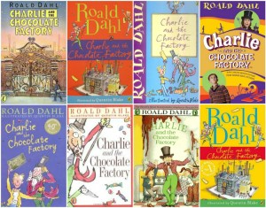 A random selection of previous Charlie and the Chocolate Factory covers