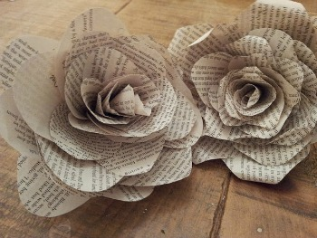 Book Page Roses