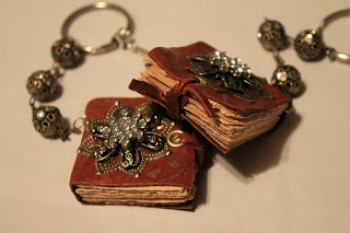 Leather Book Necklaces
