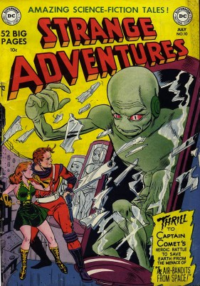 Cover to Strange Adventures #10, by Bob Oskner & Bernard Sachs.