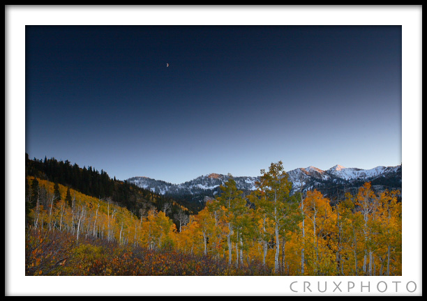 First snow in Big Cottonwood Canyon.  Copyright Nate Young and Crux Photo.