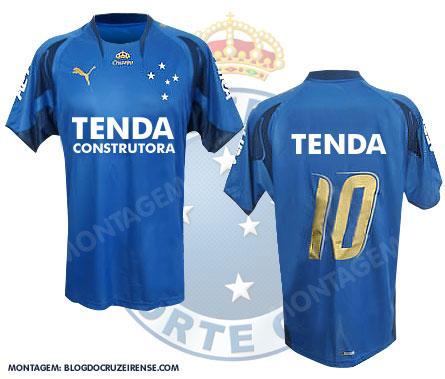 Camisa com a nova patrocinadoraTenda
