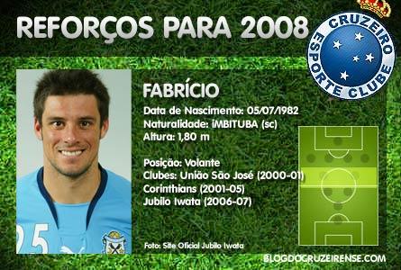 Reforços para 2008: Fabr�cio Souza