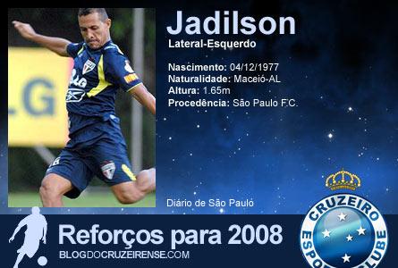Reforços para 2008: Jadilson