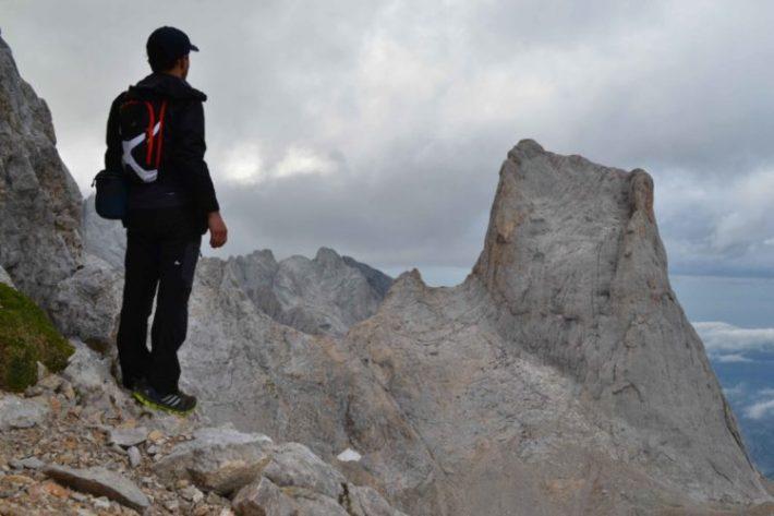 Collada Bonita e o Pico Urriellu