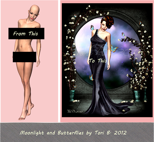 Moonlight and Butterflies by Tori Beveridge 2012 WIP