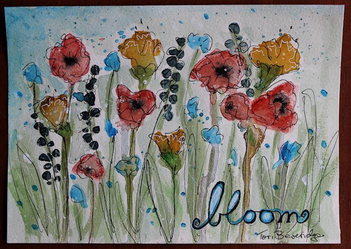 Bloom Watercolor Floral by Tori Beveridge 2016