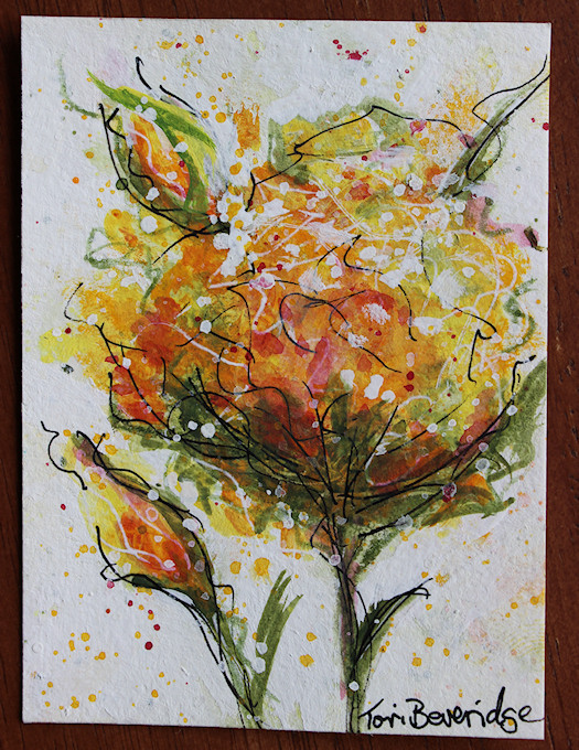 Photo of Orange Expressionist Floral by Tori Beveridge