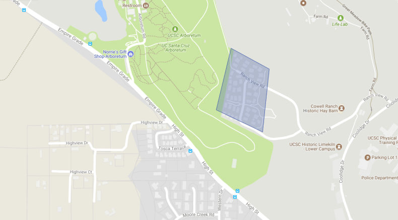 Map of new Wireless Pro at UCSC Faculty Housing