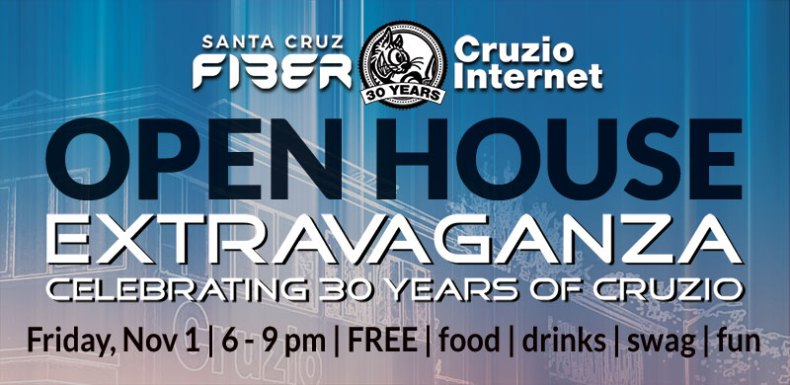 Cruzio Internet's Open House Invitation