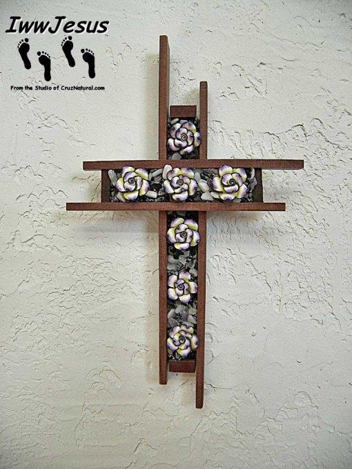 Flower Fades Cross