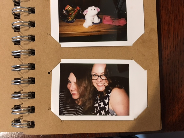 Here's a shot Molly took of me and my mother with the (pink) camera we gave her for Christmas.