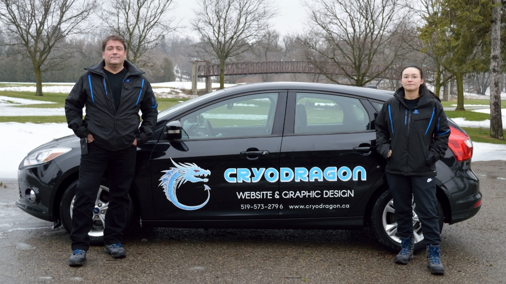 CryoDragon Team with Branded Car