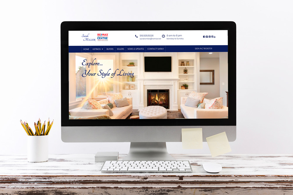 CryoDragon Website Design (Waterloo Kitchener Cambridge Guelph) Sarah Miller REMAX Real Estate Website