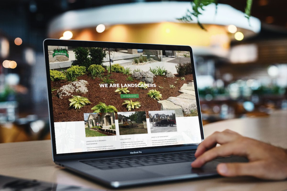 CryoDragon Kitchener Waterloo Website Design Moonbeam Landscaping