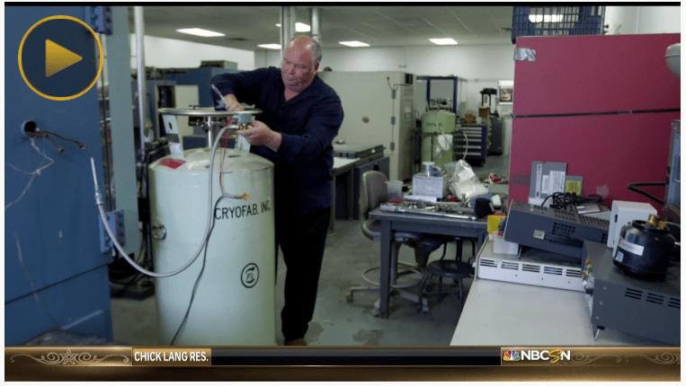 Cryofab cryogenic tank on NBC Sports