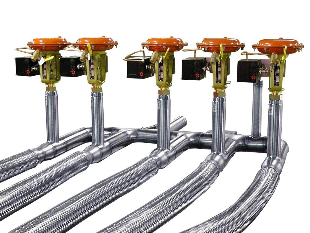 liquid nitrogen transfer lines with valves