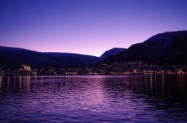Sunrise over Tromsø. January 2014.