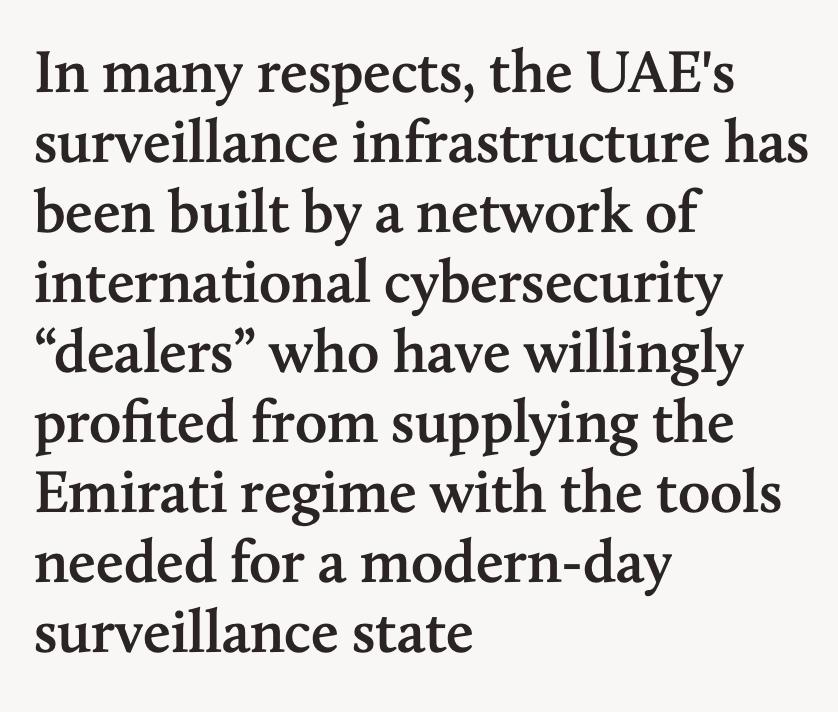 UAE Mass Surveillance