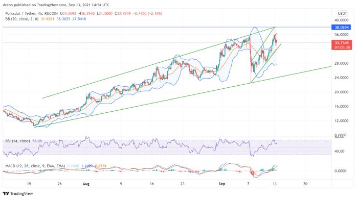 Polkadot Price Prediction September 2021: DOT Encounters Resistance At $38