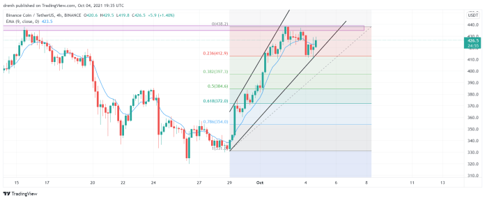 Binance Coin Price Analysis October 2021: Will BNB Reach $500 Again?