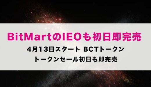bitmartのBCTトークンIEO初日20秒で完売