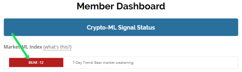 Crypto-ML Index-ML Bitcoin Bear