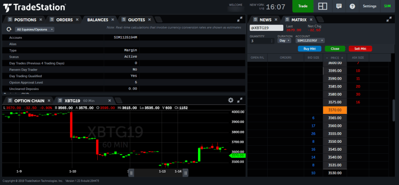 Crypto-ML TradeStation Web Trading