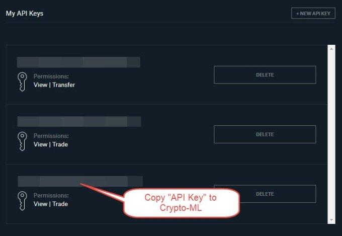 Coinbase Pro Copy API Key