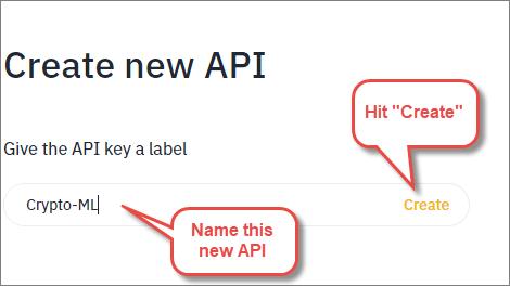 Crypto-ML Binance Create New API