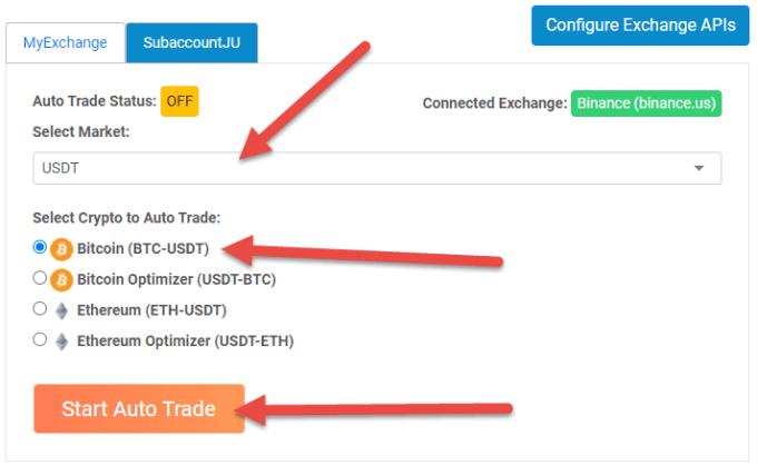 Crypto-ML Auto Trade Dashboard USDT