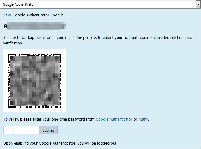google-authenticator-bitmex